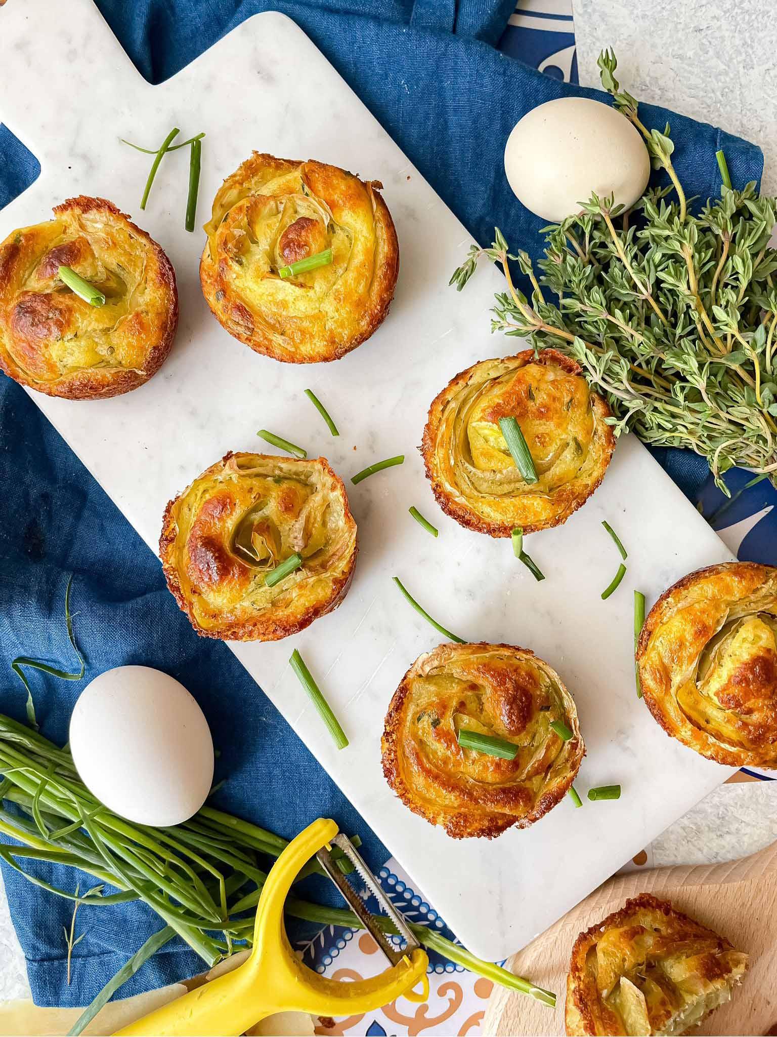 #IOCUCINOSENZASPRECHI Muffin salati con patate